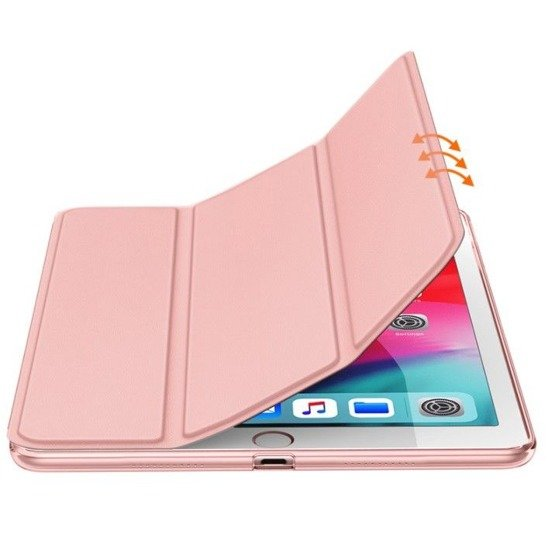 Etui APPLE IPAD 10.2 2019 Tech-Protect Smart case z klapką różowo-złote