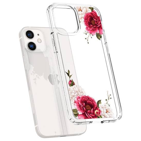 Etui IPHONE 12 MINI Spigen Cyrill Cecile Red Floral