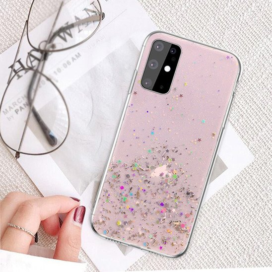 Etui IPHONE X / XS Brokat Cekiny Glue Glitter Case różowe