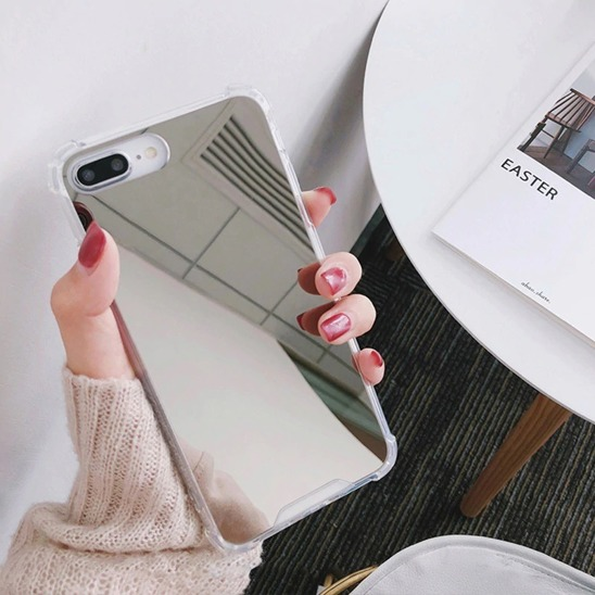 Etui Lustro Mirror Anti shock IPHONE X srebrne