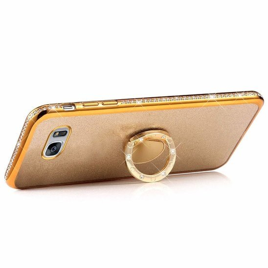 Etui SAMSUNG GALAXY A51 Diamond Ring Brokat złote