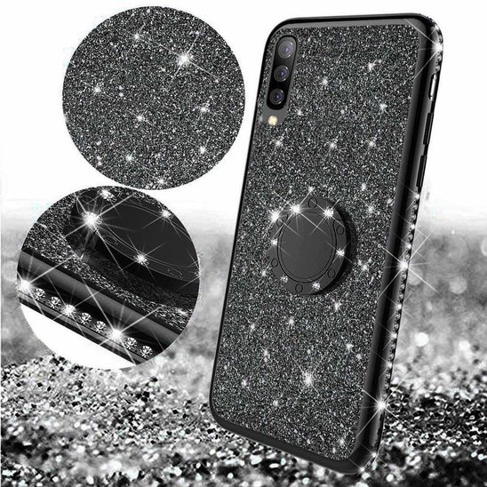 Etui XIAOMI REDMI 8A Diamond Ring Brokat czarne