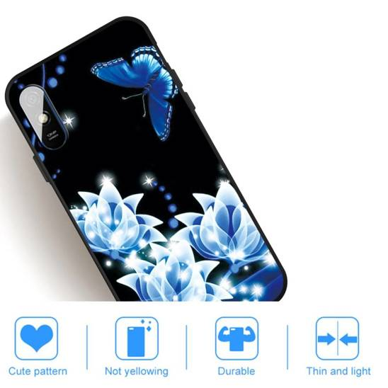 Etui XIAOMI REDMI 9A Slim Case Art Flowers and Butterfly czarne