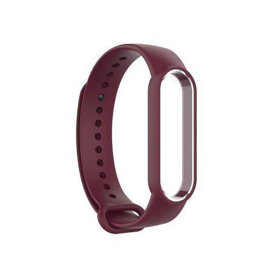 Silikonowa opaska do Xiaomi Mi Smart Band 5 Soft Silicone Strap bordowa